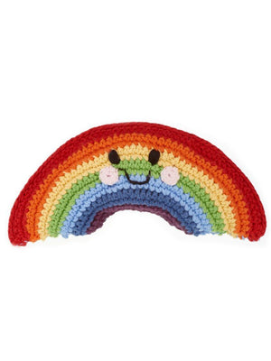 Rainbow Crochet Fair Trade Rattle Toy