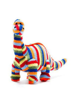 Crochet Diplodocus Rattle, Stripy