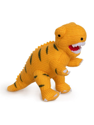 Crochet T Rex Rattle, Orange