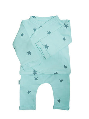 Preemie Shirt & Trouser Set, Mint Green Star, 1.5-3lb & 3-5lb