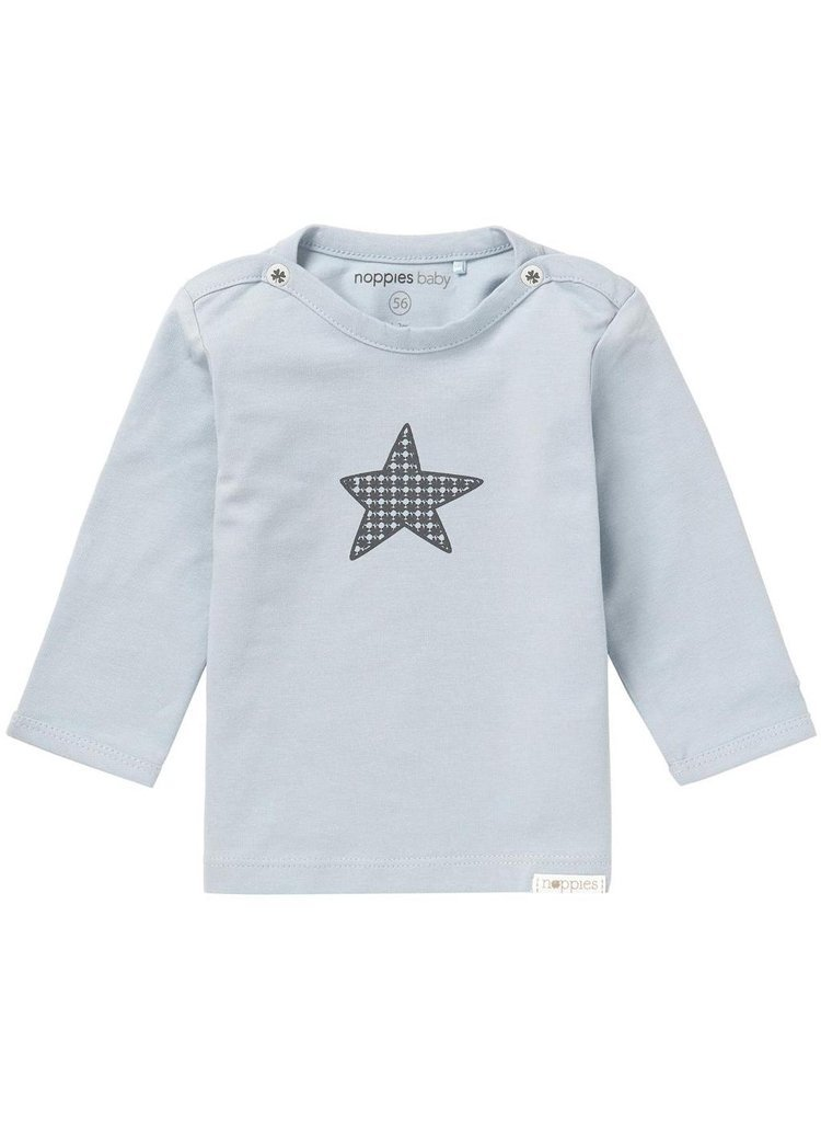 Slate Blue Star Long Sleeve T-Shirt (3 Sizes)