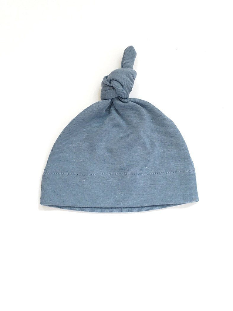 Slate Knotted Hat - Premature baby - Hats - Little Mouse - Little Mouse Baby Clothing & Gifts
