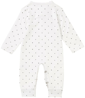 Sleepsuit - White With Star Print (3 Sizes)