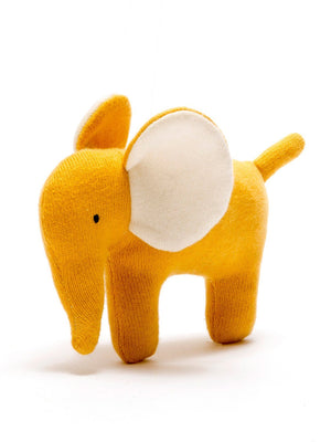 Organic Cotton Mustard Elephant Toy