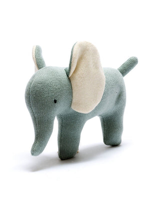 Organic Cotton Teal Elephant Toy
