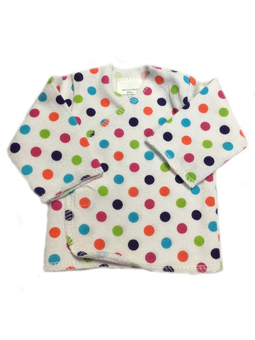 Spotty Wrapover Long Sleeve Shirt (Premature)