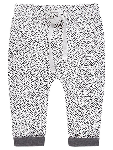 Organic Cotton Trousers - Black and White Spotty (4-7lb)