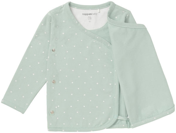 Mint with Stars Wrap-over Top (Tiny Baby & 1-2 Months)