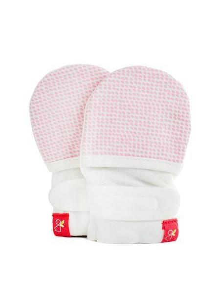 Stay-On Scratch Mitts - Pink (0-3 Months)
