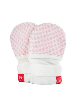 Stay-On Scratch Mitts - Pink (0-3 Months) - Scratch Mitts - Goumikids