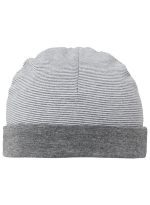 Charcoal Grey Stripe Hat - Reversible (Tiny Baby, 4-7lb) - Hat - Noppies