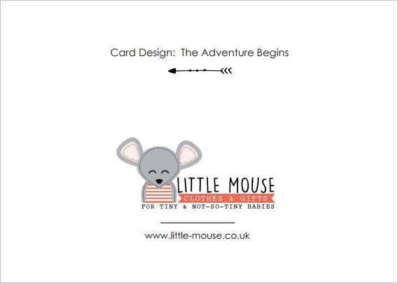 The Adventure Begins - New Baby Card