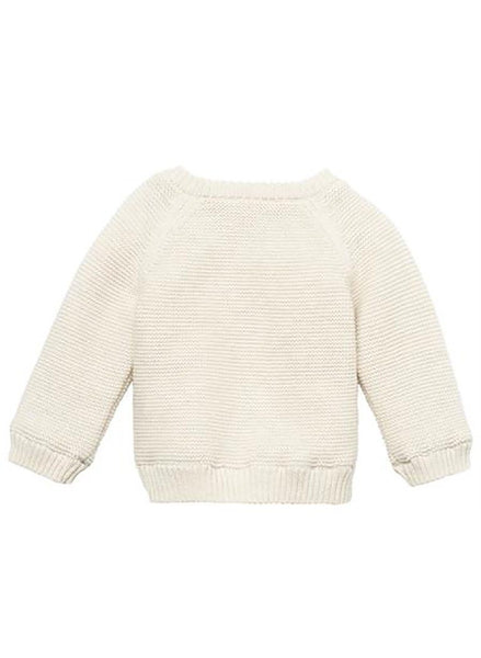 Chunky Knitted Fluffy Lined Cardigan - Cream - cardigans - Noppies - Little Mouse Baby Clothing & Gifts
