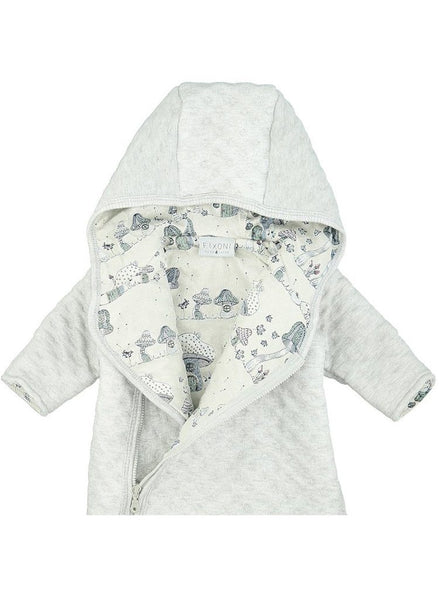 Organic Cotton Grey Super Warm Snowsuit (tiny baby 5-8lbs)