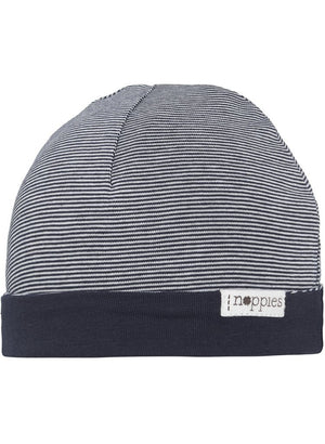 Navy Stripe Hat - Reversible (Tiny Baby Size, 4-7lb) - Hat - Noppies