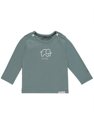 Dark Green Little Elephant Print Top - Tiny Baby Size (4-7lb)