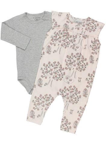 Beautiful Soft Rose Tiny Baby Romper & Bodysuit (5-8lb)