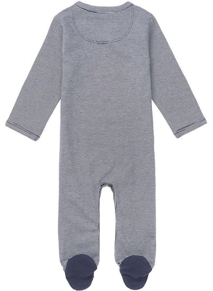 Navy Blue Stripe Tiny Baby Footed Sleepsuit (4-7lb)