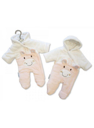 1 Tiny Baby Snow Suit, Giraffe, Pink (5-8lb)