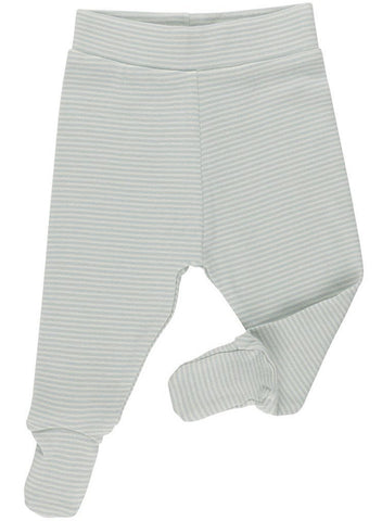 Blue Stripe Footed Trousers - Organic  (Tiny Baby, 4-7lb)
