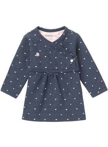 Gorgeous Navy Dress With Hearts (Tiny Baby, 4-7lb)