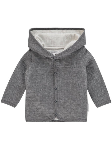 Trendy Grey Hooded Cardigan (4lb-7lb Tiny Baby)