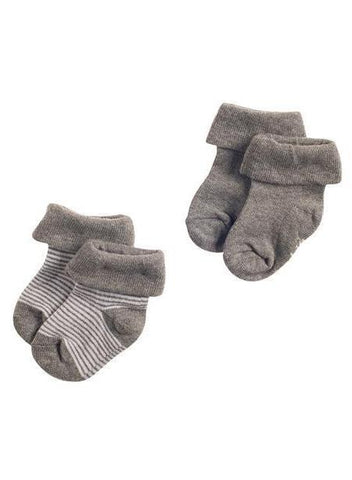 Socks 2 Pack - Charcoal Grey (0-3 Months)