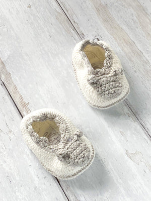 Crochet Sheep Booties (0-6 Months)