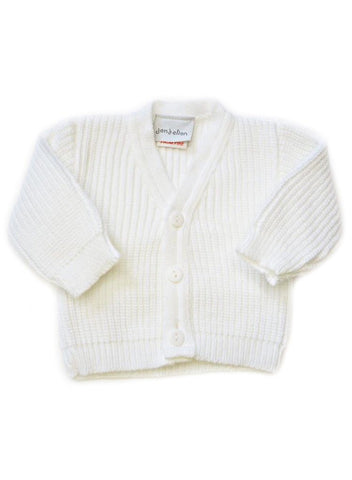 White Tiny Baby Cardigan (5-8lb)