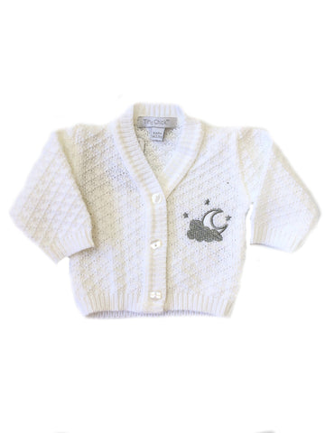 Moon and Cloud Design Cardigan 3-5lbs & 5-8lbs