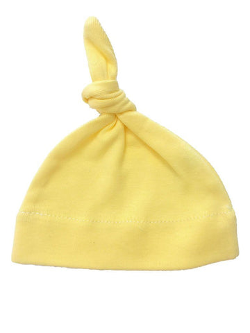 Sunshine Yellow Premature Baby Knotted Hat (Premature)