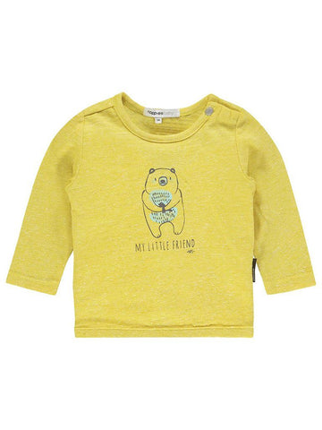 Organic Cotton Yellow 'My Little Friend' Top - Tiny Baby (4-7lb)