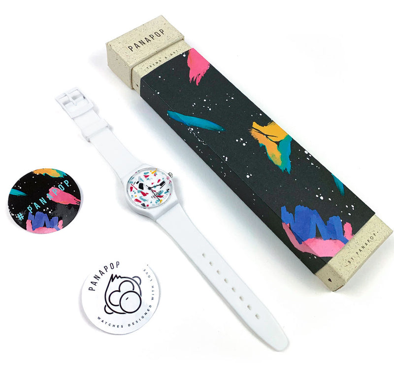 complemento reloj mujer blanco hella cool packaging