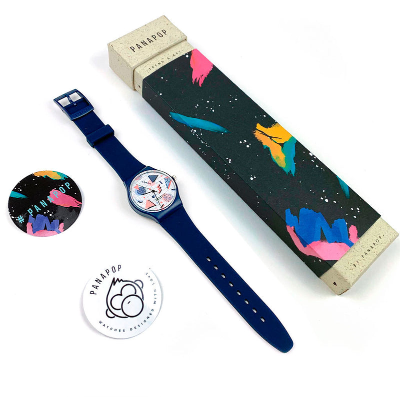 complemento reloj mujer azul psyched packaging