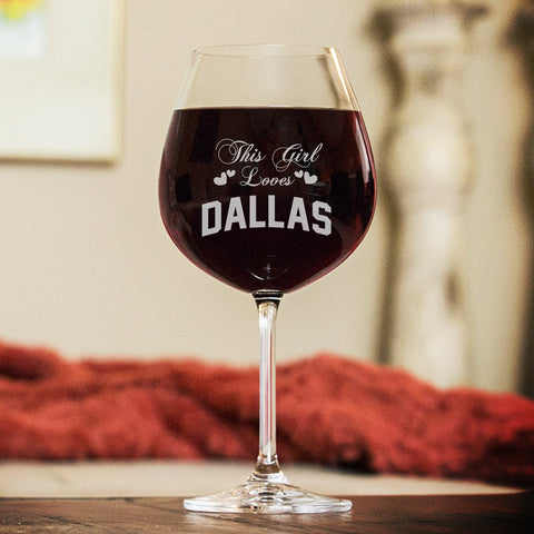 This Girl Loves... Wine Glasses - Wine Glass - Epic Goodies Shop