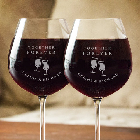 Together Forever Wine Glass Set - Wine Glass - Epic Goodies Shop