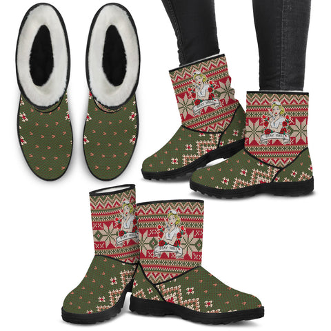 Stay Well Christmas Knit - Faux Fur Boots - Boots - Epic Goodies Shop