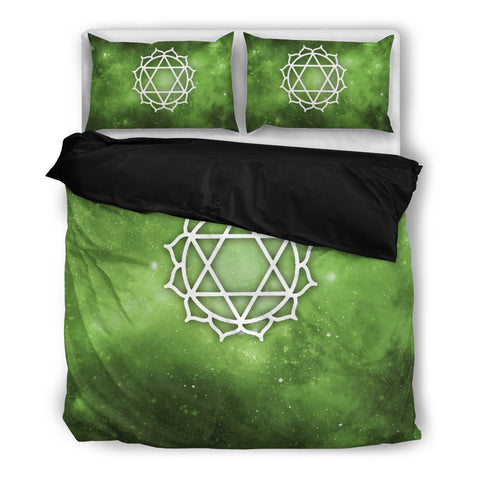 Starry Chakra Green - Bedding Set - Bedding Set - Epic Goodies Shop