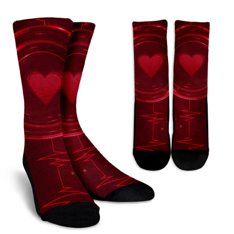 Socks-Red Heartbeat - socks - Epic Goodies Shop