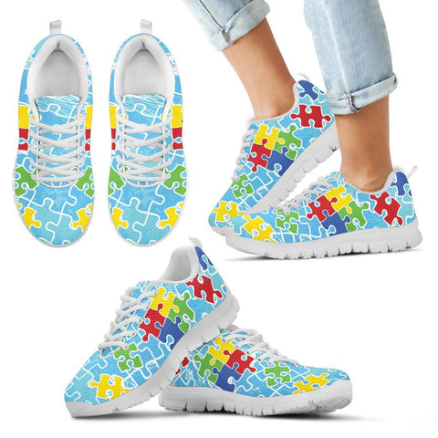 Autism Colorful Pieces - Kid's Sneakers - Shoes - Epic Goodies Shop