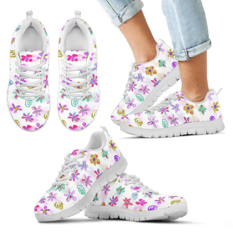 Crayon Flower Kid Sneakers