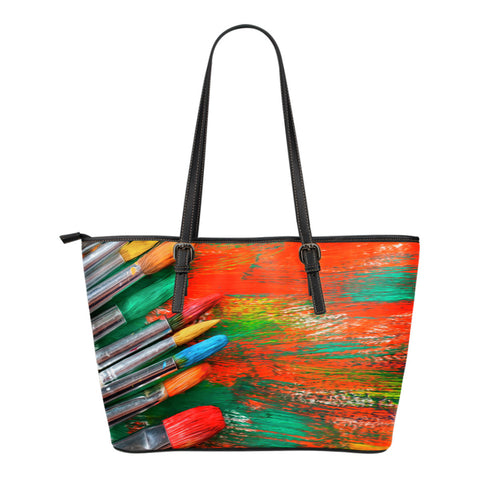 Art and Colors - Small Leather Totes - Bags - Epic Goodies Shop
