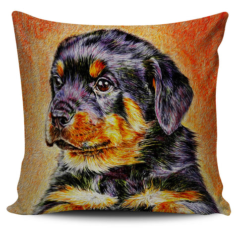 Rotweiler Pup - Pillow Cover