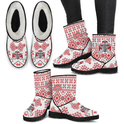 Nurse RN Christmas Knit - Faux Fur Boots - Boots - Epic Goodies Shop