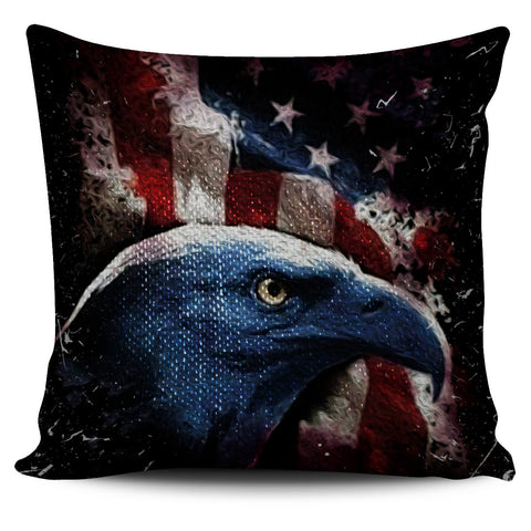 Eagle Eye Pillow Cover - Patriotic