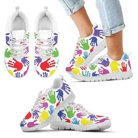 Autism Hands Open - Kid's Sneakers - Shoes - Epic Goodies Shop