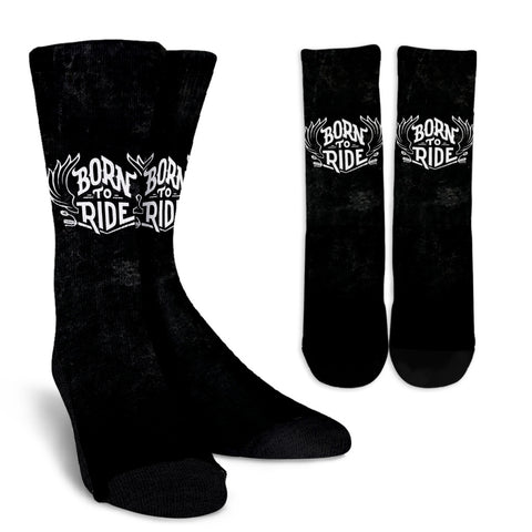 Born To Ride - Crew Socks