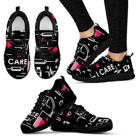 I Care - Black Sneakers - Shoes - Epic Goodies Shop