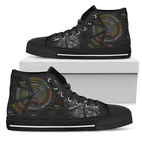 Pizza TypoGraphies - Women's High Tops - Shoes - Epic Goodies Shop