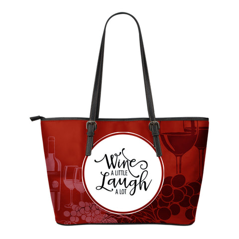 Wine Laugh - Small Leather Tote